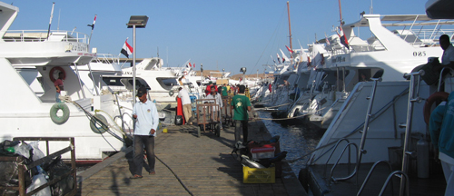 Harbour in Egypt