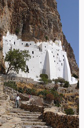 Monestary in Amorgos, Greece