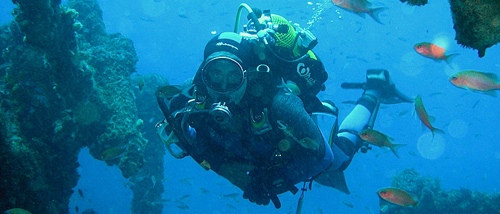 Diver in Spain