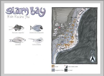 Koh Racha Yai - Siam bay dive site map