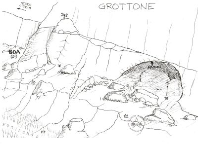 IL GROTTONE dive site map