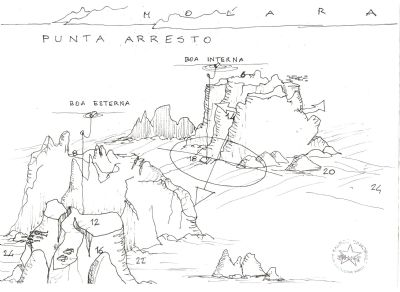 SECCA DI PUNTA ARRESTO dive site map