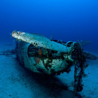 A piper plane wreck in Greece