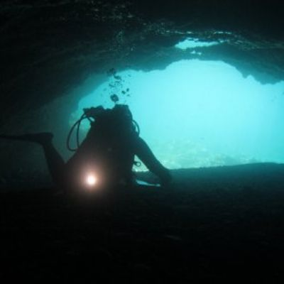 Cave dive in Greece